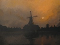 0050 Molen in avondstemming